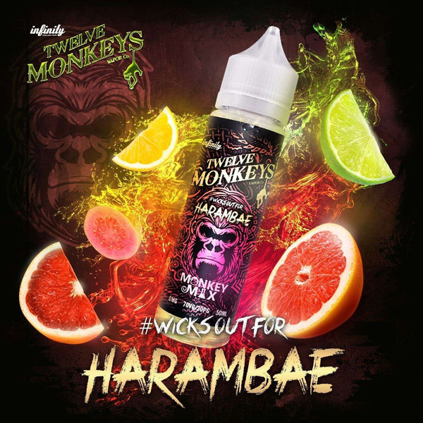 Harambae Twelve Monkeys 50ml a  for your vape by  at Red Hot Vaping