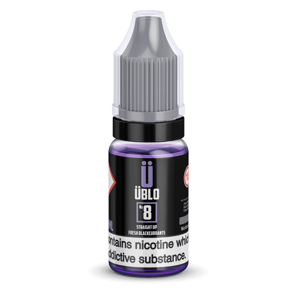 Ublo Number 8 (Equivalent of  Blackcurrant Vjuice) 10ml 50/50 By Ublo for your vape at Red Hot Vaping