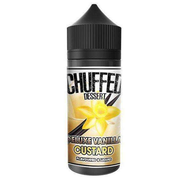 Deluxe Vanilla Custard By Chuffed Dessert 100ml Shortfill for your vape at Red Hot Vaping