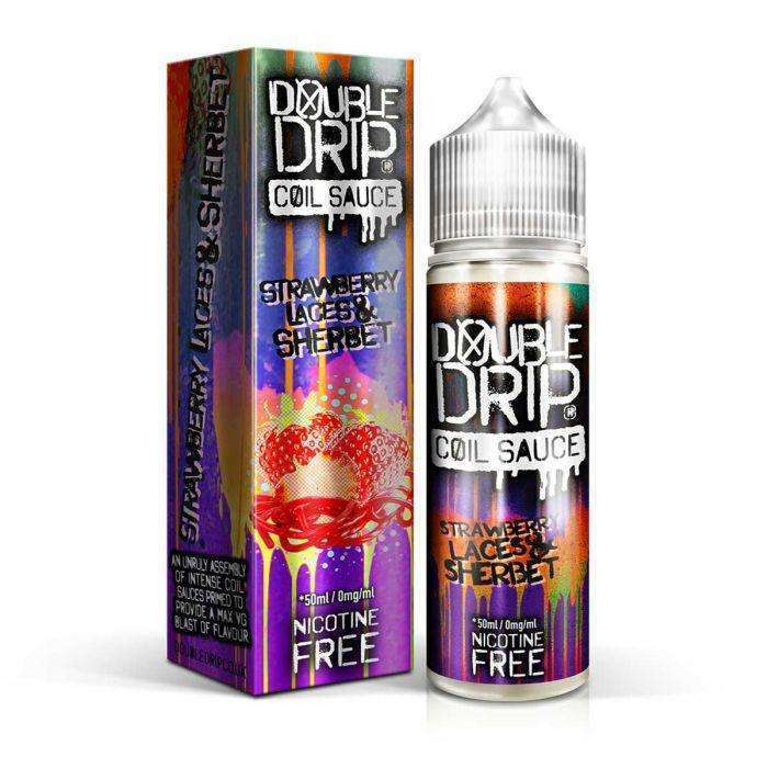 Strawberry Laces & Sherbet Double Drip 50ml a  for your vape by  at Red Hot Vaping