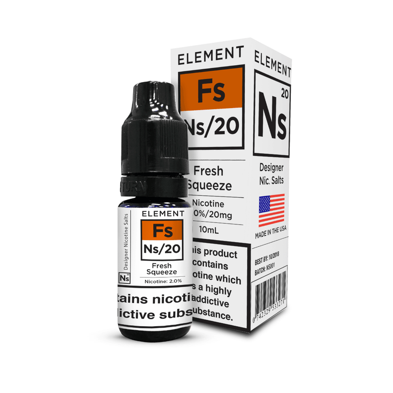Fresh Squeeze Element Nic Salt 10ml a  for your vape by  at Red Hot Vaping