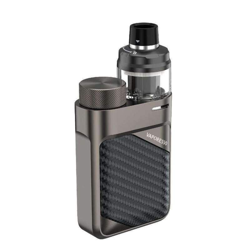 Swag PX80 Kit By Vaporesso in Brick Black, for your vape at Red Hot Vaping