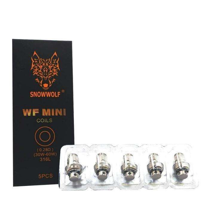 WF Mini 0.28 Coils By Snow Wolf for your vape at Red Hot Vaping