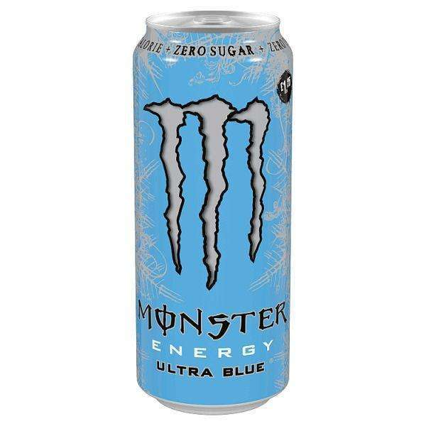 Monster Energy Ultra Blue 500ml for your vape at Red Hot Vaping
