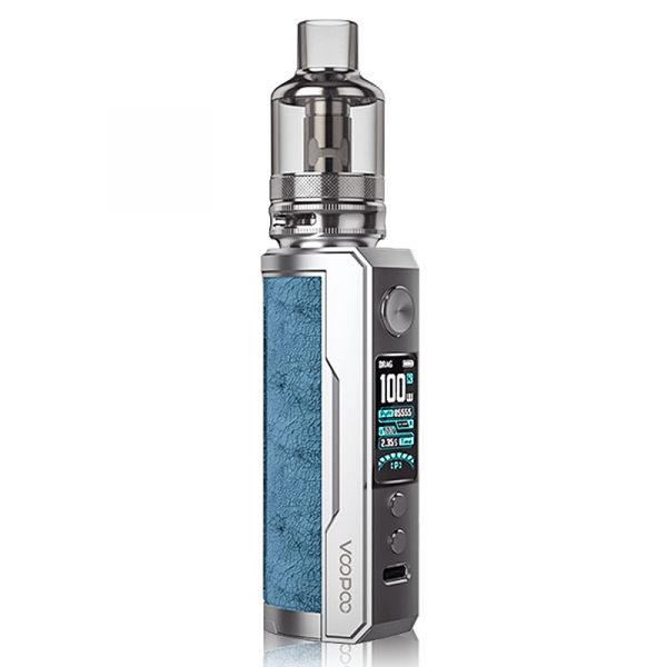 Drag X Plus Kit By VooPoo in Perussian Blue, for your vape at Red Hot Vaping