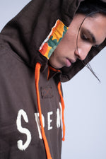 SPEAK HOODIE - BROWN