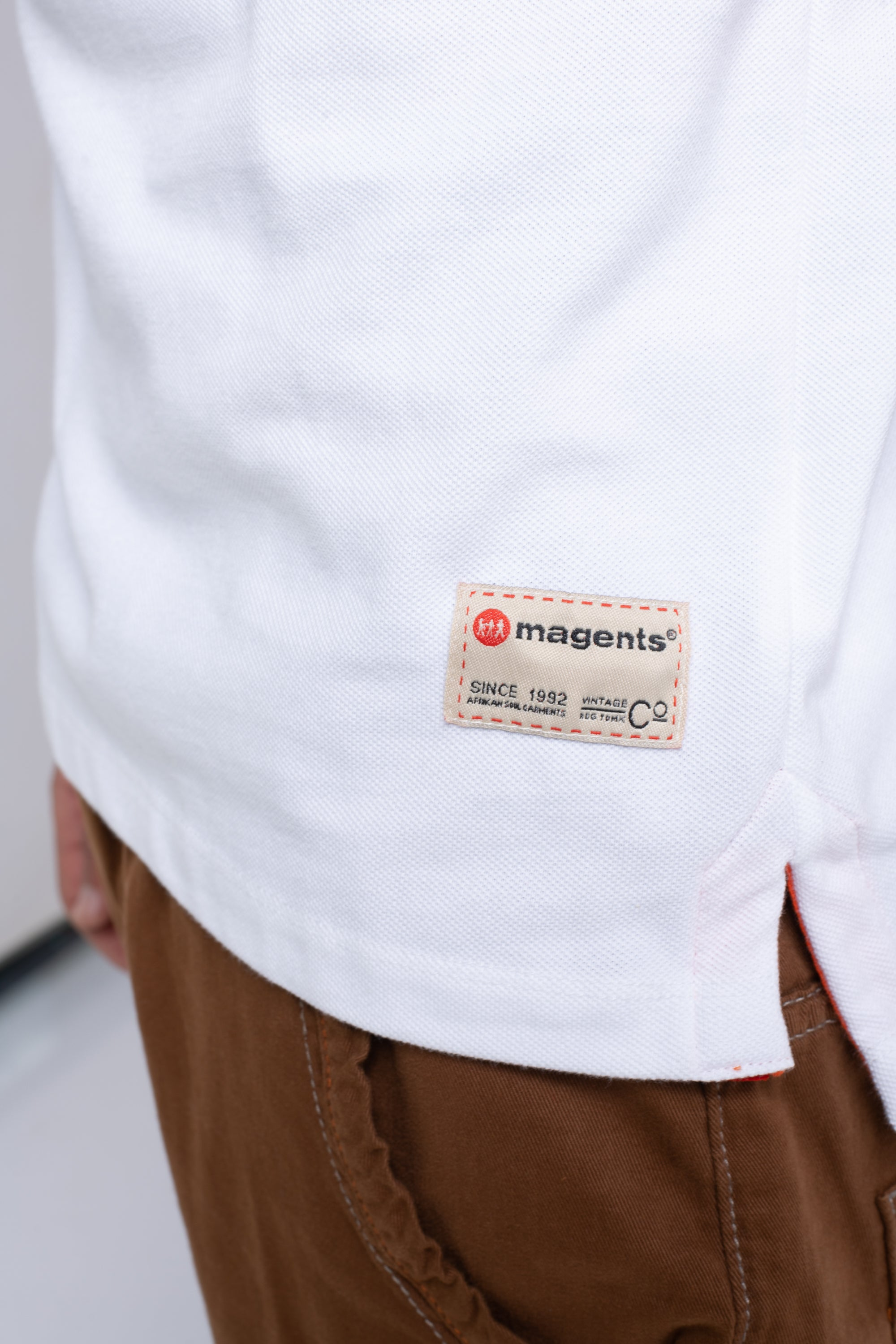 MAGENTS POLO SHIRT - WHITE