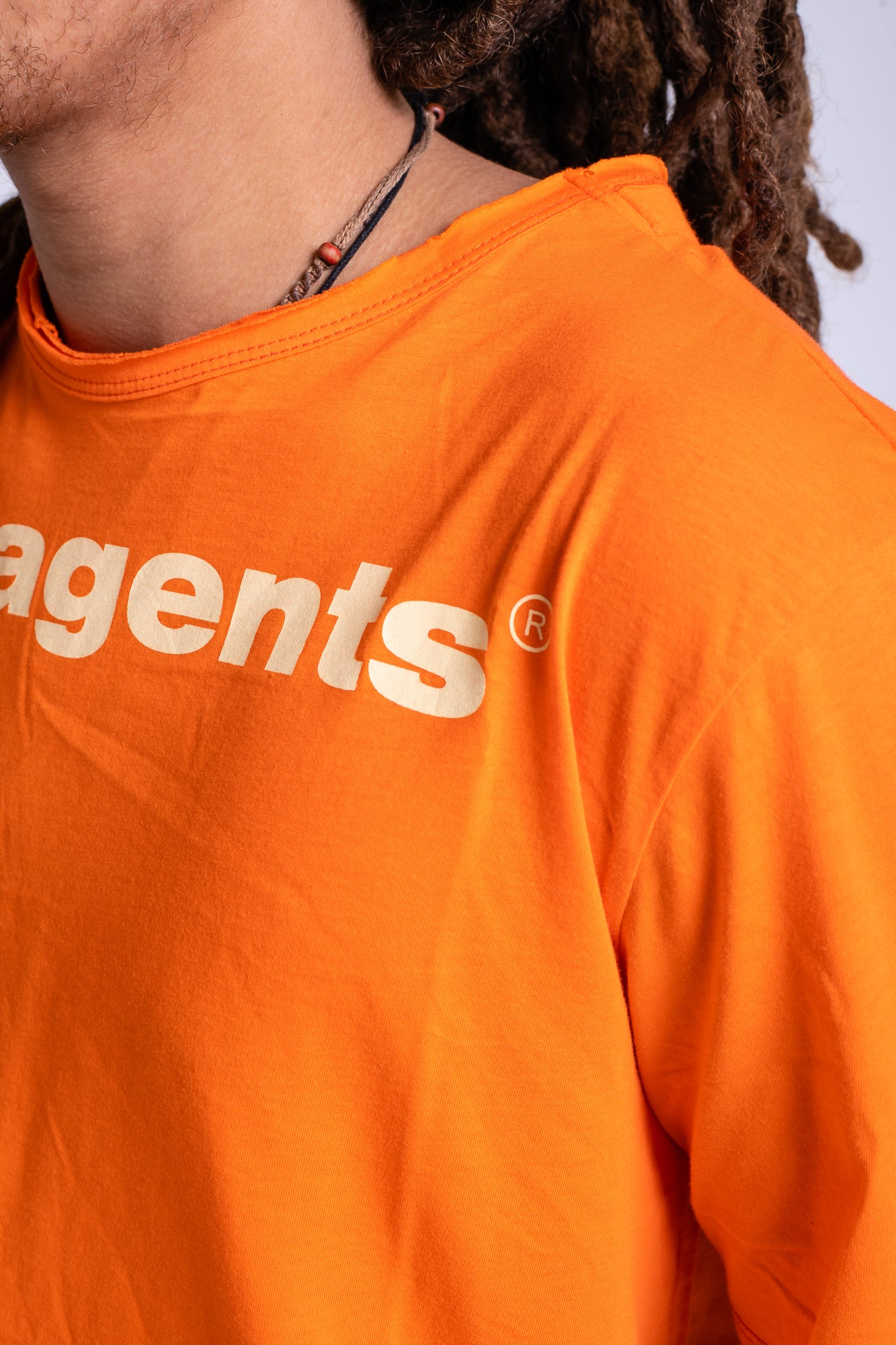 LOGO CREW NECK TEE - ORANGE