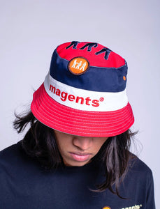 TRI COLOUR REVERSIBLE BUCKET HAT - MULTI