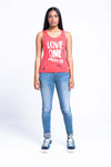LOVE ONE ANOTHER VEST - CORAL