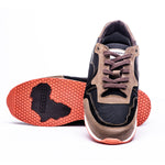 ACHUZE SPORTS SNEAKER - BLACK AND BROWN