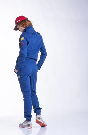 LADIES BOILER SUIT - BLUE