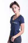 LADIES SIGNATURE TEE IN NAVY