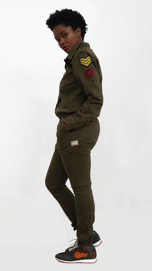 LADIES BOILER SUIT - KHAKI