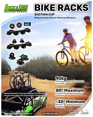 BIKE RACK- DOUBLE - SWIVEL SUCTION LLX600A