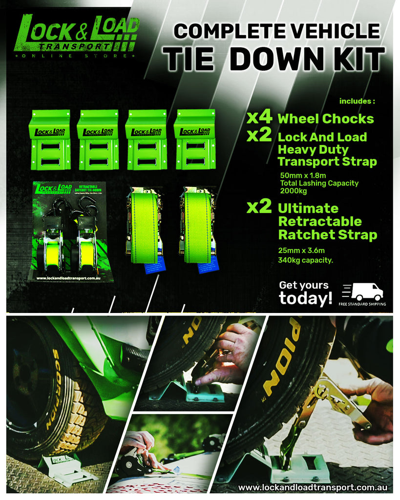 Heavy Duty Tie Down Straps & Wheel Chock Kit RW25
