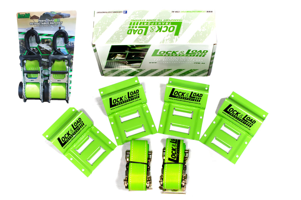 Heavy Duty Straps & Wheel Chock Kit - RW55