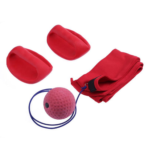 1 Set Boxing/MMA Reflex Ball With Gloves.