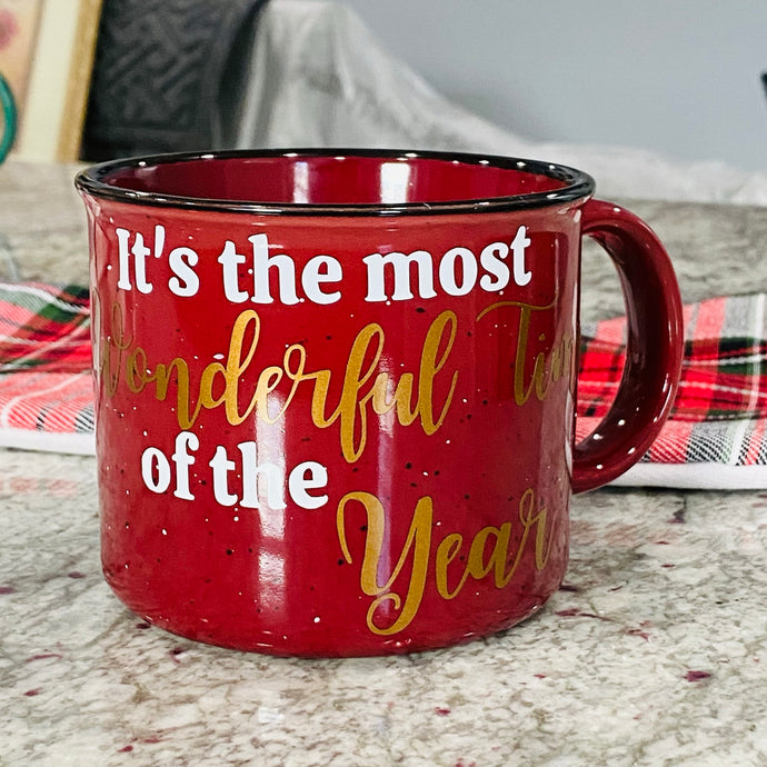 Most Wonderful time of the Year Camper Mug