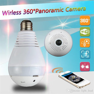 Smart Bulb  360° IP Wireless Panoramic CCTV