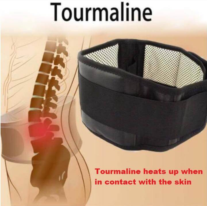 Magnetic Lumbar Support Therapy Belt - Self Heating with Tourmaline