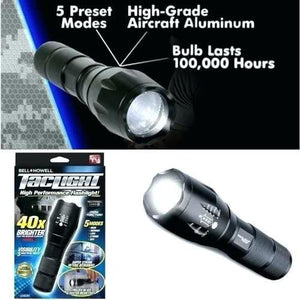 Military Grade Tactical Flashlight (Free Battery and Charger)