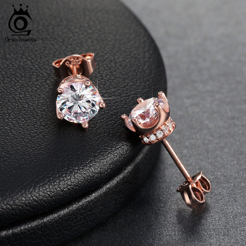 Earring Stud with 0.8 ct 9 Colors Female Zircon AAA Cubic Zirconia Earring For Women On Party OE122