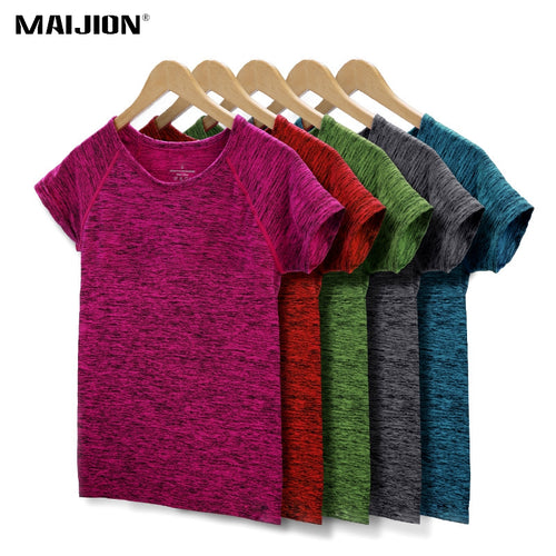 5 Colors Women Yoga Shirt for Fitness Running Sports T Shirt ,Gym Quick Dry Sweat Breathable Exercises Short Sleeve Tops