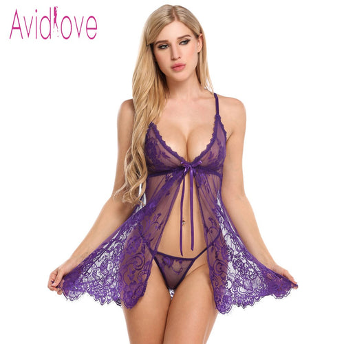 2018 NEW WOMEN SEXY LINGERIE LACE NIGHTWEAR