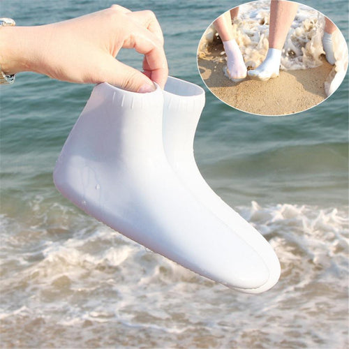 2018 NEW 1 PAIR AQUA SILICONE BEACH SHOES/ WATER SOCKS