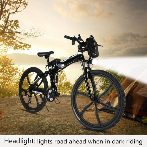 new ebike 26inch Bike Foldable Electric Power Mountain Bicycle with Lithium-Ion Battery 3 Color