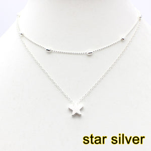 SIMPLE LOVE HEART CHOKER NECKLACE FOR WOMEN