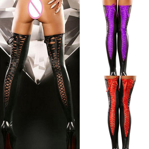 2018 New Sexy Comfortable Thigh-high Stockings Leather lace up