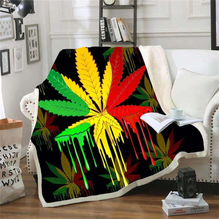 Rasta Drip Throw