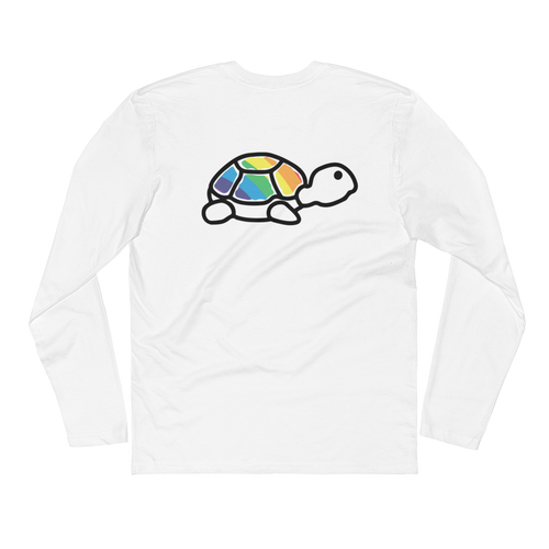 Long Sleeve Fitted Crew | Rainbow Trrtlz