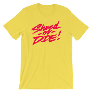 Shred or Die Yellow & Red Logo