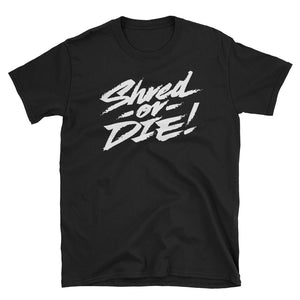 Shred or Die White Logo