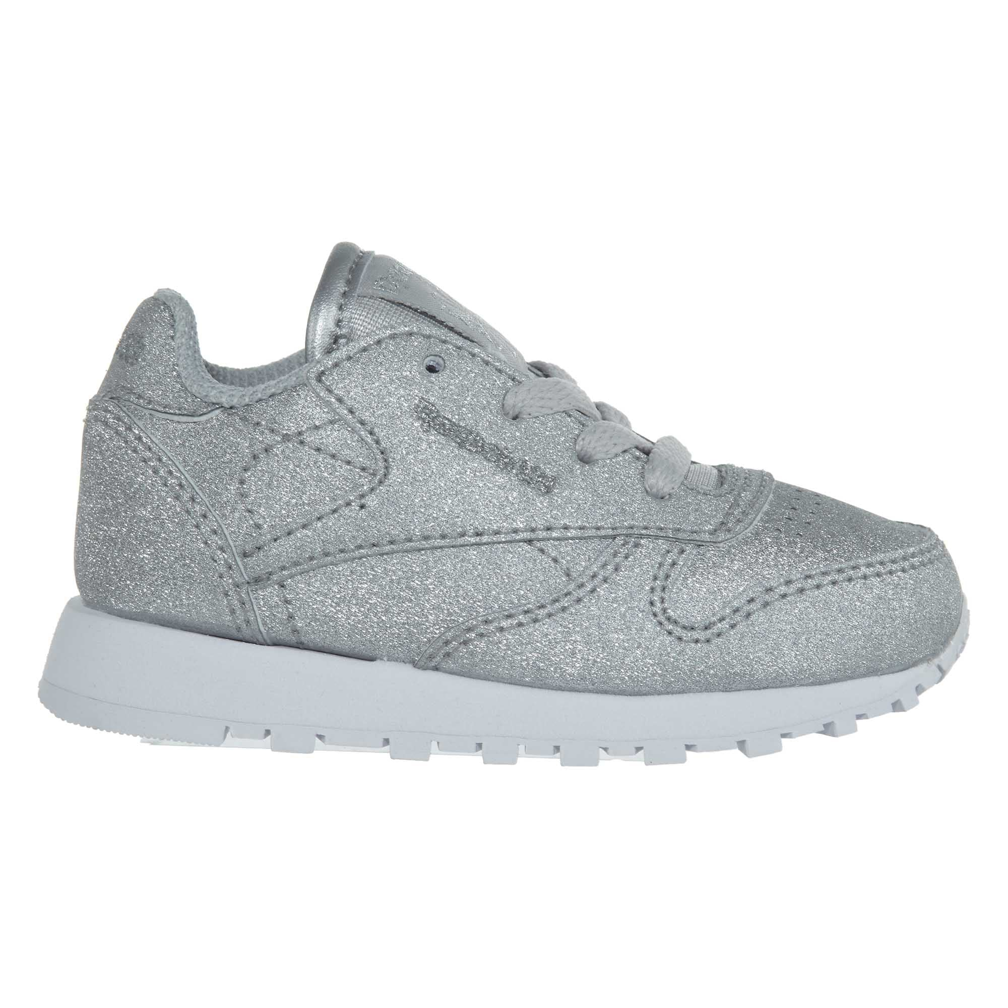 Reebok Classic Leather Syn Toddler/'s Shoes Silver Metallic//Snow Grey BS7583