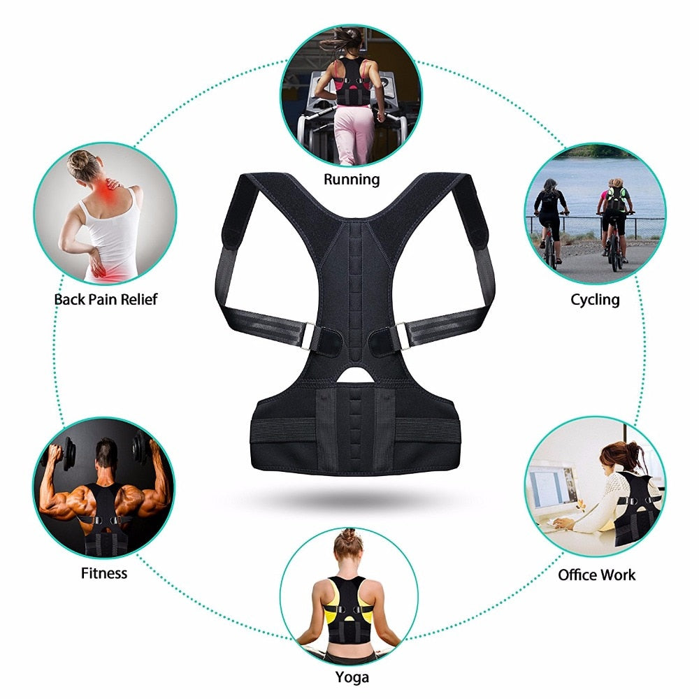 Adjustable Lower and Upper Back Support & Posture Corrector