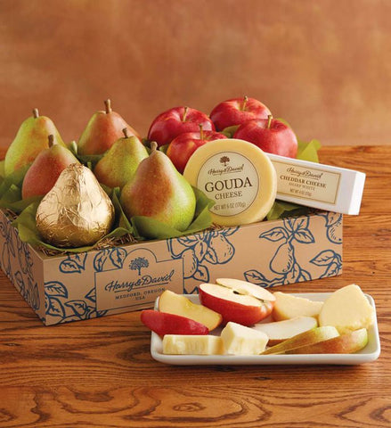 Gift - Basket - Classic Pears, Apples, and Cheese Gift