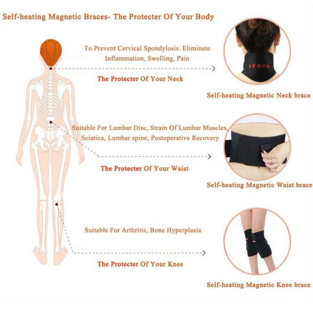 Naturally Heating Healing Magnets Neck Therapy Belt
