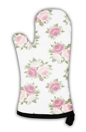 Oven Mitt - Kitchen Safety Essential - Pink Roses Pattern