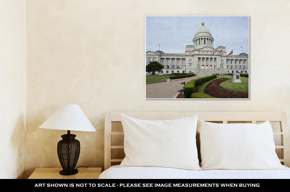 Gallery Wrapped Canvas, Capitol Building State Capital Building If Arkansas