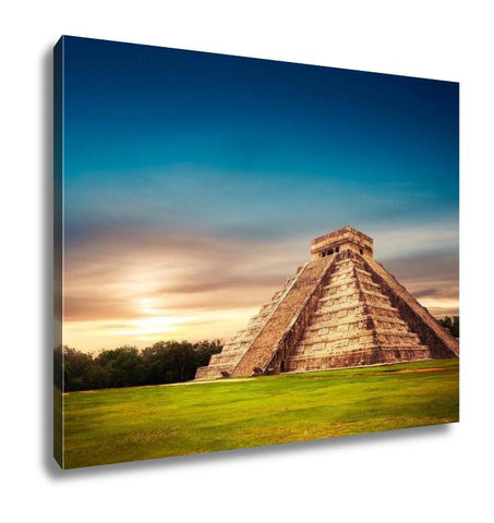 Gallery Wrapped Canvas, Pyramid In Chichen Itza