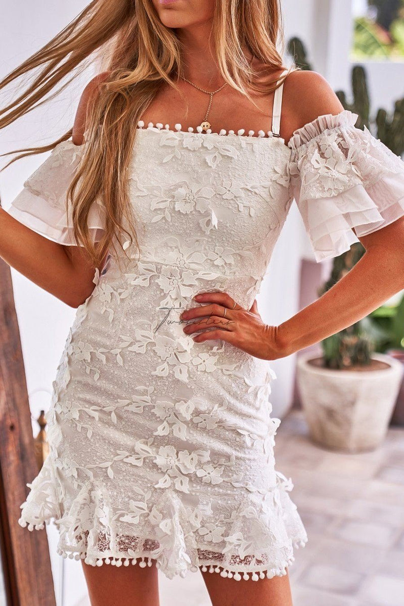 BEARTRICE DRESS - WHITE