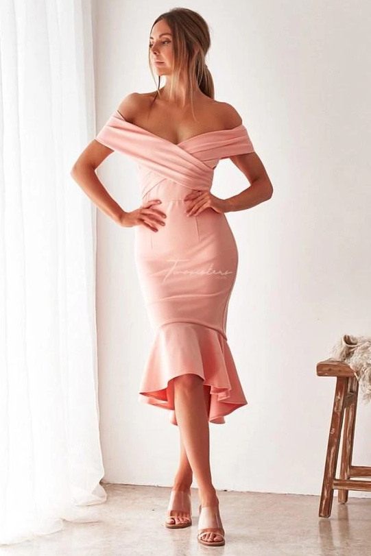 BRIENNE DRESS - BLUSH