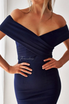 BRIENNE DRESS - NAVY