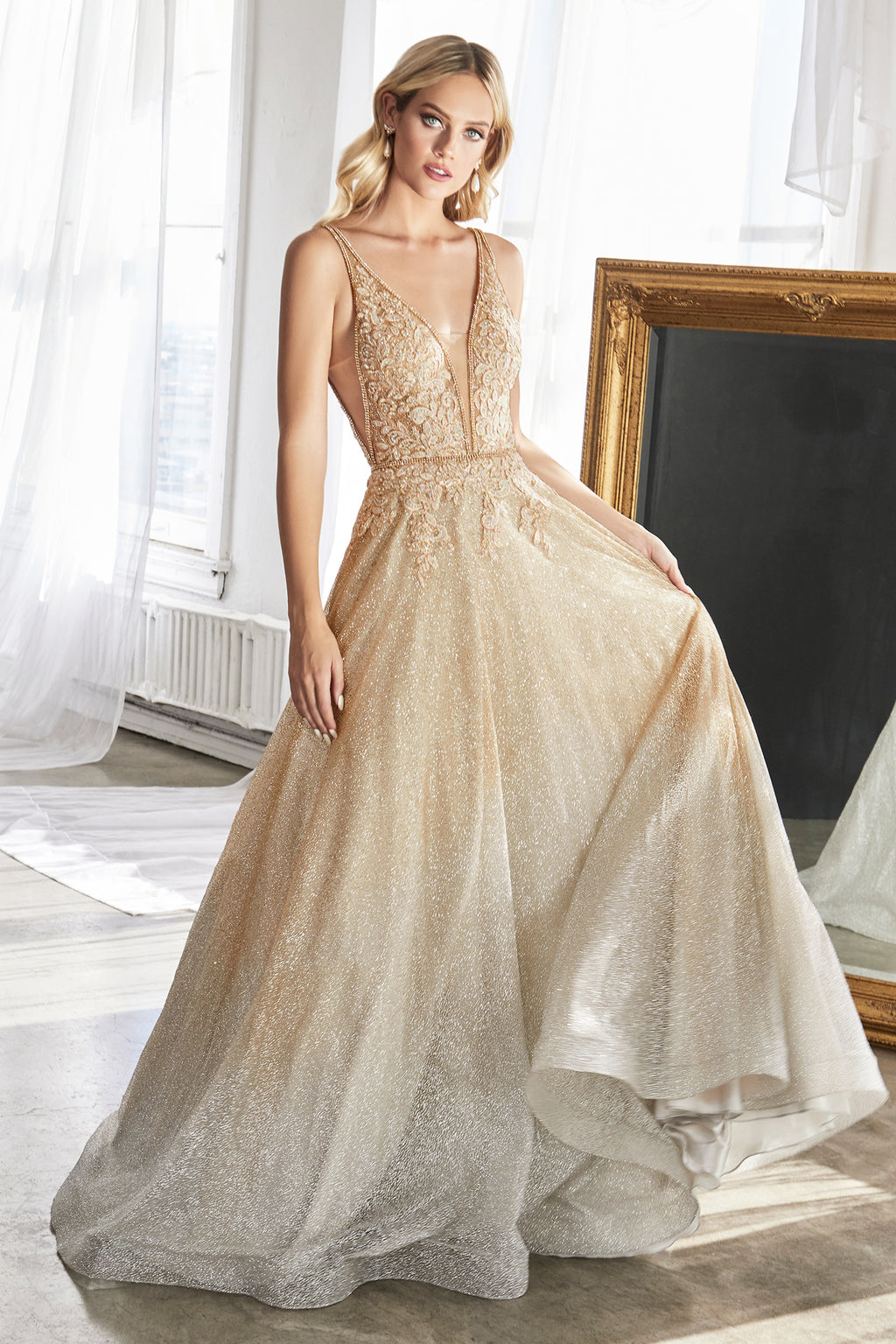 ADRIANNA GOWN - GOLD/SILVER