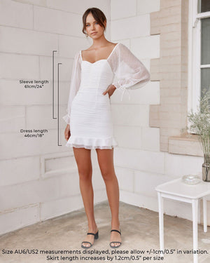 HARRIETTE DRESS - WHITE (PREORDER)