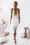RIVERS MIDI DRESS - WHITE
